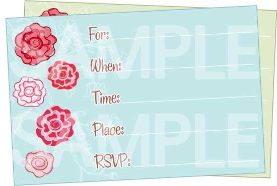 cute floral printable birthday invitations