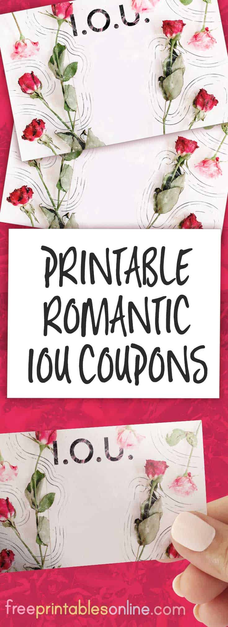 romantic iou coupon with roses free printables online. Black Bedroom Furniture Sets. Home Design Ideas