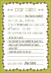 Printable Christmas Lists Archives Free Printables Online