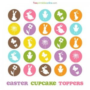 Easter Themed Cupcake Toppers