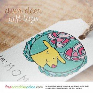 Dear Deer Printable Christmas Gift Tags