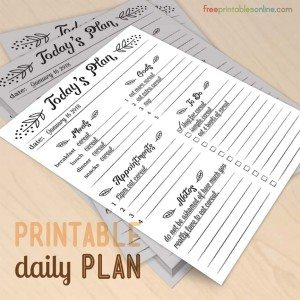 Today's Plan Daily Planner