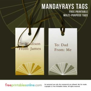 Contemporary Printable Gift Tags
