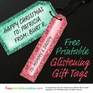 Printable Christmas Gift Tags Template