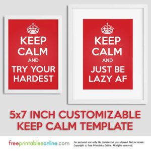 Personalized Keep Calm Template