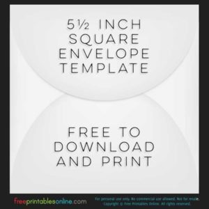 5 1/2 inch square envelope template