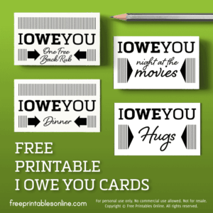 photograph relating to Friendship Coupons Printable called Printable IOU Discount codes Archives - Totally free Printables On the internet