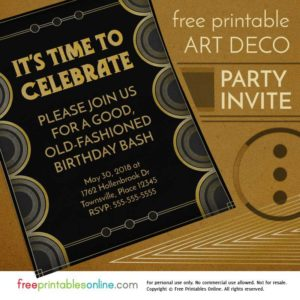 Art Deco Party Invitation
