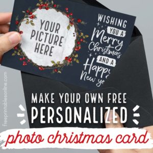 Make your own photo Christmas Card