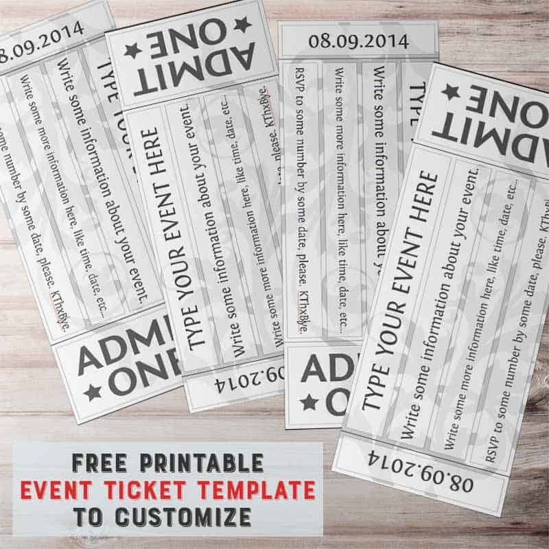 It's just an image of Shocking Free Printable Tickets Template
