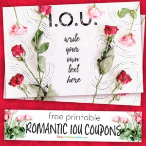 Romantic IOU Coupon to print