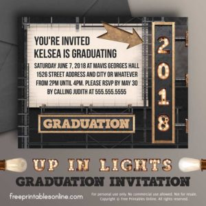 Lights 2018 Graduation Invitation