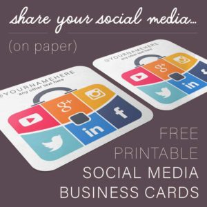 Suitcase Social Media Business Cards