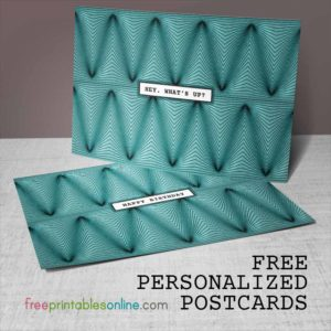 Free Personalized Postcard