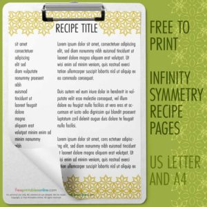 picture about Printable Recipe Pages called Printable Recipe Webpages Archives - Free of charge Printables On the net
