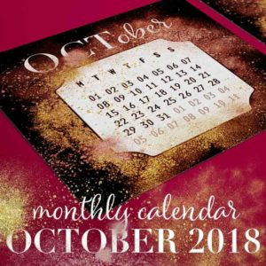 October 2018 Monthly Calendar