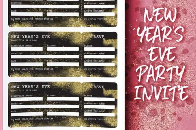 New Year's Eve Party Boarding Pass