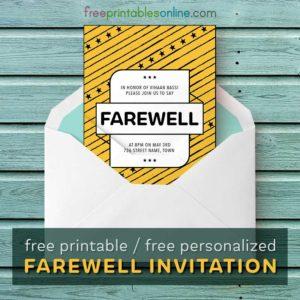Farewell Invitation Card