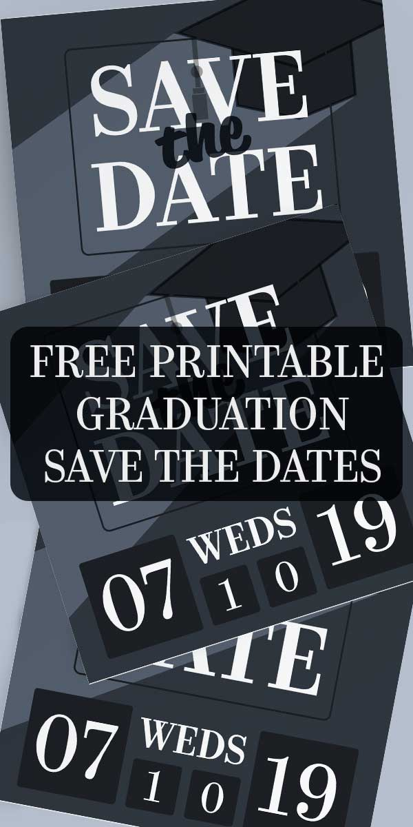 Graduation Save The Date Invitations Free Printables Online