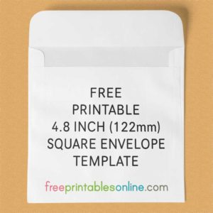 4.8 inch square envelope template