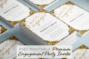 Premium Engagement Party Invitations