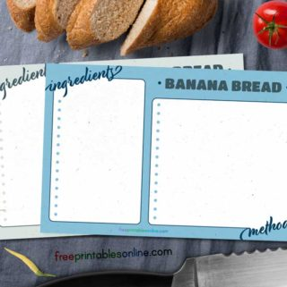 Cornered Recipe Card templates