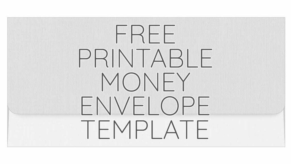 Printable Money Envelope Free Printables Online