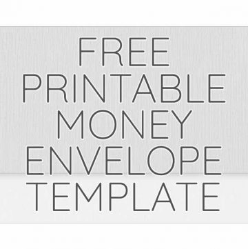 Printable Money Envelope Template