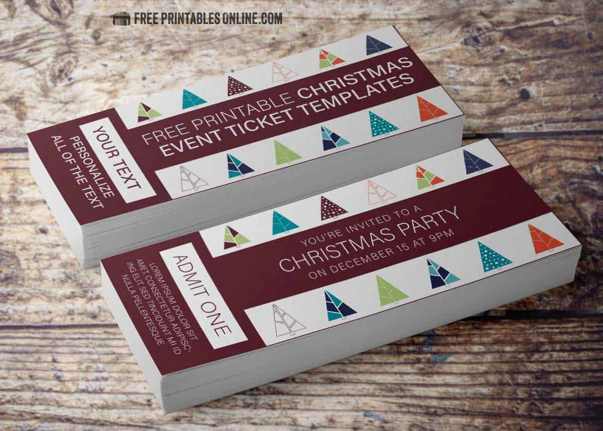 Christmas Event Ticket Template Free Printables Online