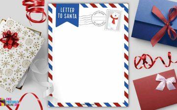 Printable Blank Letter to Santa